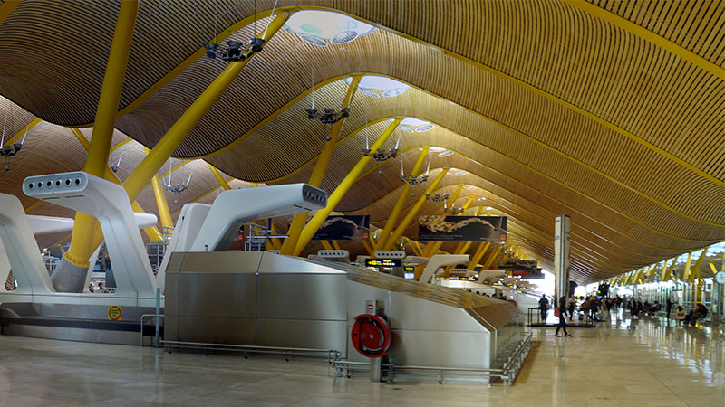 Barajas Airport Terminal 4 Madrid Spain Architecture Revived